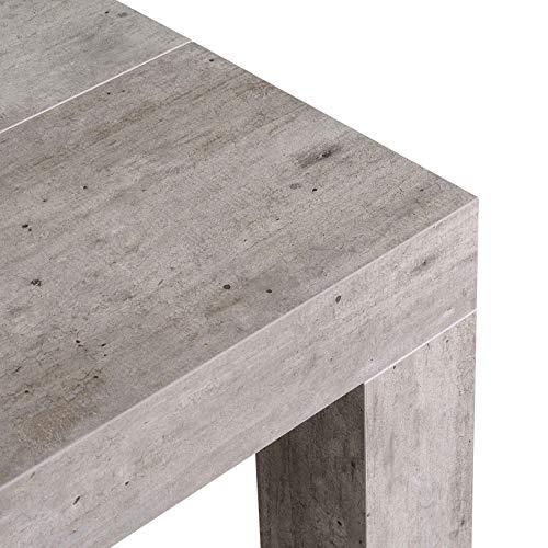 icreo ATENA Tavolo Consolle Allungabile Cemento, Prodotto Interamente  Italiano - Confronta i prezzi su PrezzoX.it