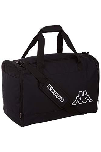 Kappa VIGRA, borsa sportiva spaziosa per lo sport e il tempo libero, per donne e uomini, materiale leggero e robusto, dimensioni: 50 cm x 30 cm x 35 cm, colore caviale