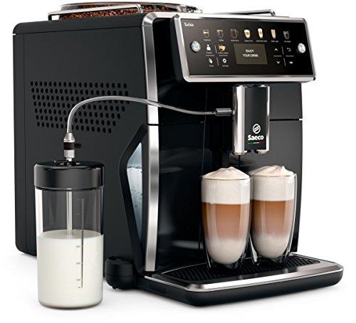 Saeco sm7580/00 Xelsis Macchina per caffè,LED Display CON TASTI DI SCELTA rapida,hygie-Steam,1.7 L,colore: nero (Pianoforte Nero, display a LED)